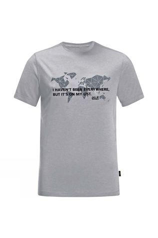 Jack Wolfskin Mens JWP World T-Shirt Slate Grey