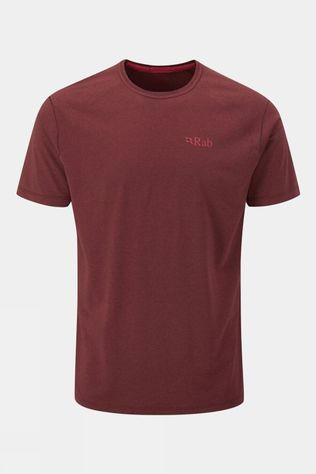 Rab Mens Mantle Tee Oxblood Red Marl