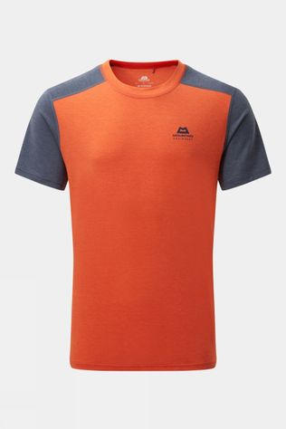 Mountain Equipment Mens Headpoint Block Short Sleeve Tee Pumpkin/Medieval