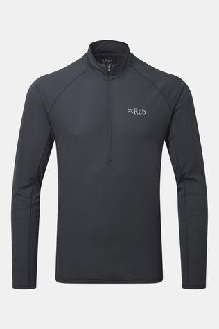 Rab Mens Pulse Long Sleeve Zip Tee Ebony
