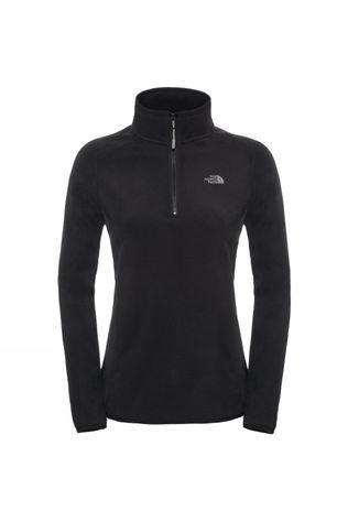 The North Face Womens 100 Glacier 1/4 Zip Fleece TNF Black