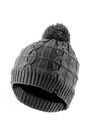 SealSkinz Waterproof Cable Knit Bobble Hat Grey Marl