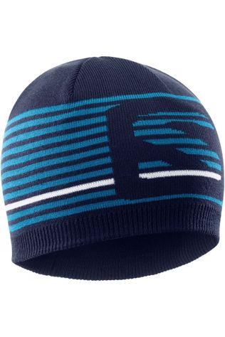 Salomon Mens Flat Spin Short Beanie Night Sky/Fjord Blue