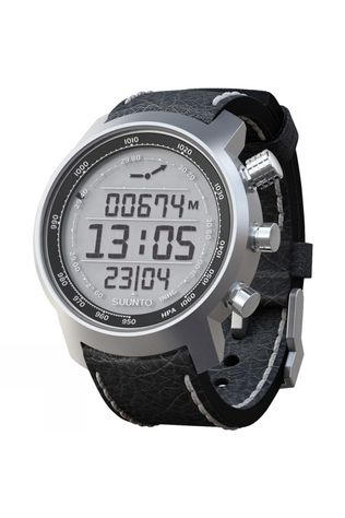 Suunto Elementum Terra Watch Silver/Positive Display/Black Leather Strap