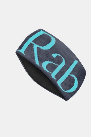 Rab Knitted Logo Headband Ebony / Seaglass