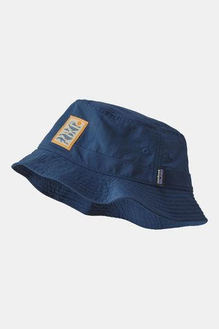 Patagonia Wavefarer Bucket Hat Whale Tail Tubes Stone Blue