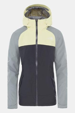 The North Face Womens Stratos Jacket Asphaly Grey/Mid Grey/Tender Yellow