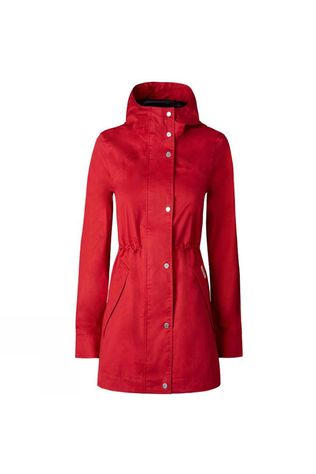 Hunter Womens Original Cotton Smock Military Red