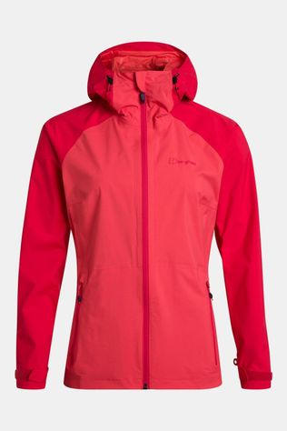 Berghaus Womens Deluge Pro Shell Jacket Cayenne/Lollipop