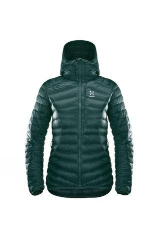 Haglofs Womens Essens Down Hooded Jacket Mineral