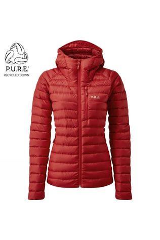 Rab Womens Microlight Alpine ECO Jacket Ascent Red