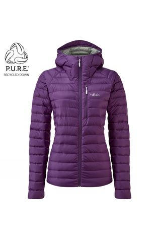 Rab Womens Microlight Alpine ECO Jacket Blackcurrant