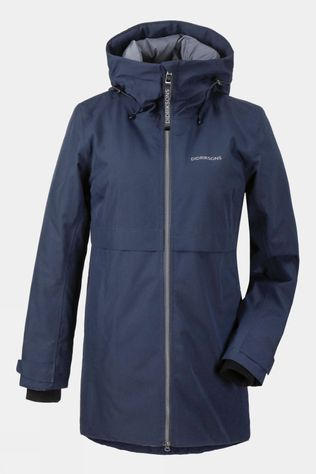 Didriksons Womens Helle Parka 3 Dark Night Blue