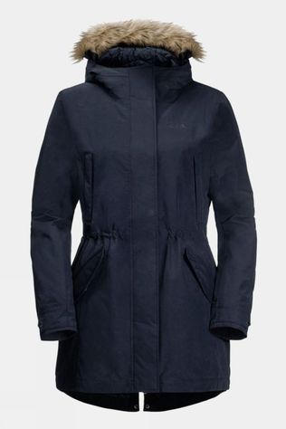Jack Wolfskin Womens Wildwood Parka Midnight Blue