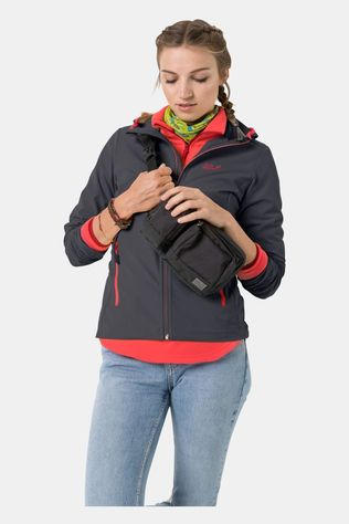 Jack Wolfskin Womens Turbulence Jacket Ebony