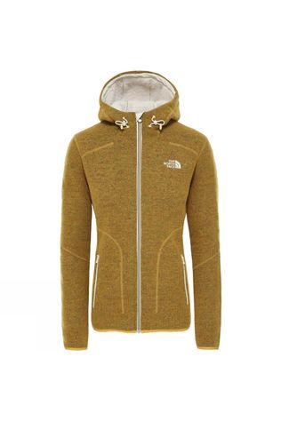 The North Face Womens Zermatt Full Zip Hoodie Golden Spice Dark Heather
