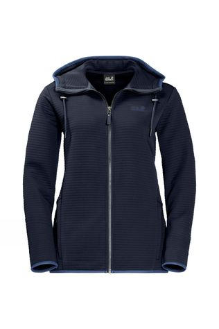 Jack Wolfskin Womens Modesto Hooded Jacket Midnight Blue