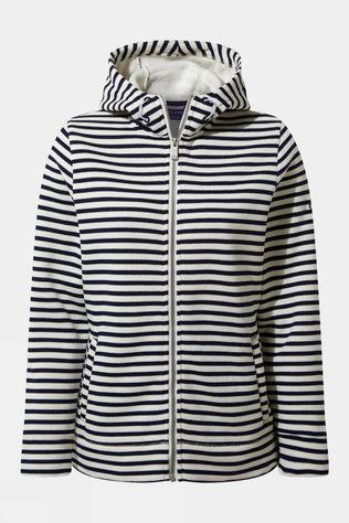 Craghoppers Womens Amelie Hooded Jacket Blue Navy Stripe