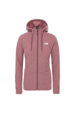 The North Face Womens Mezzaluna Full Zip Hoodie  Mesa Rose Stripe