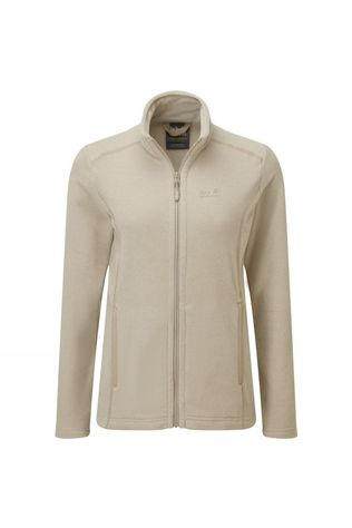 Jack Wolfskin Womens Elkstone Fleece Jacket Cobblestone/White Sand