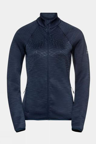Odlo Womens Corviglia Kinship Em Midlayer Top Diving Navy Melange