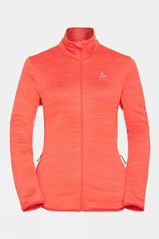 Odlo Womens Steam Full Zip Midlayer Burnt Sienna Melange
