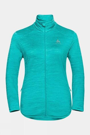 Odlo Womens Steam Full Zip Midlayer Jaded Melange