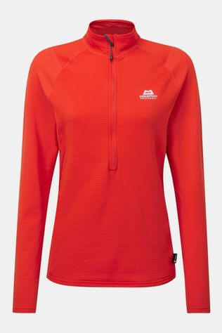 Mountain Equipment Womens Eclipse Zip Tee Cardinal Orange