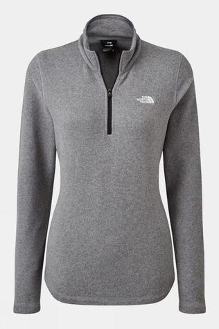 The North Face Womens Cornice II 1/4 Zip Fleece Medium Grey Heather