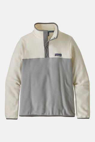 Patagonia Womens Micro D Snap-T Pullover Drifter Grey/White Wash