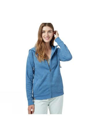 Tentree Womens Burney Zip Hoodie Blue Jay/Dark Ocean Blue AOP