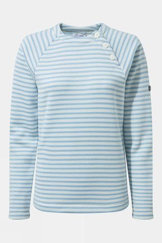 Craghoppers Womens Neela Crew Neck Harbour Blue Stripe