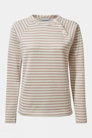 Craghoppers Womens Neela Crew Neck Brushed Lilac Stripe