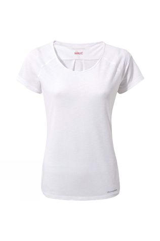 Craghoppers Womens Nosilife Harbour Short Sleeve Top Optic White
