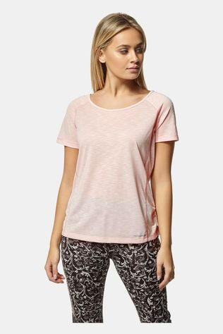 Craghoppers Womens Nosilife Harbour Short Sleeve Top Seashell Pink