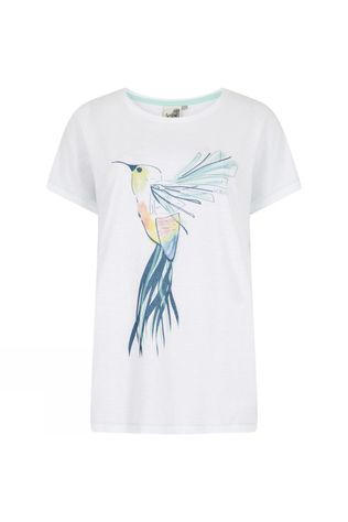Weird Fish Womens Hummingbird T-shirt White