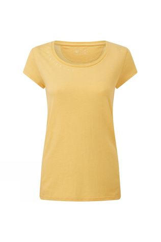 Tentree Womens Timberline Short Sleeve Tee Misted Yellow Heather