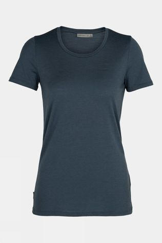 Icebreaker Tech Lite Short Sleeve Low Crewe Top Serene Blue