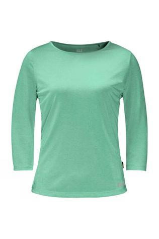 Jack Wolfskin Womens JWP 3/4 T-Shirt Pacific Green