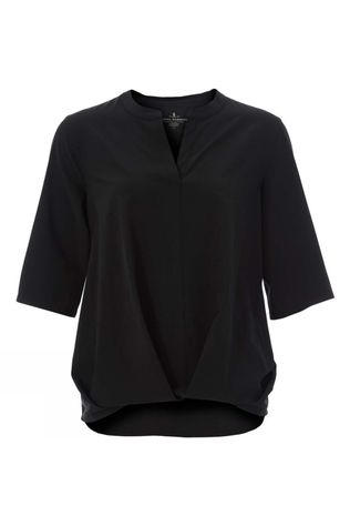 Royal Robbins Womens Spotless Traveler Short Sleeve Jet Black