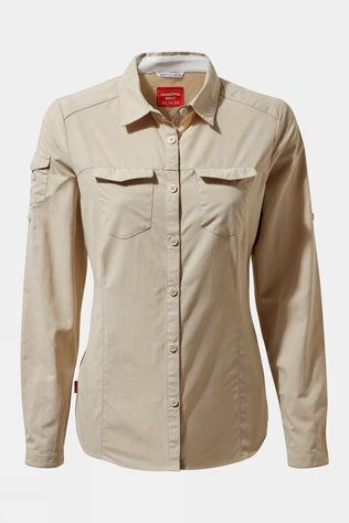 Craghoppers Womens Nosilife Adventure II Long Sleeve Shirt Desert Sand