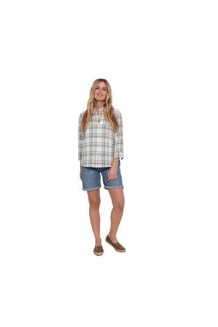 Brakeburn Womens Check Shirt Ecru