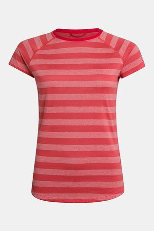 Berghaus Womens Stripe T-shirt Base Layer 2.0  Cayenne/Vaporous Grey