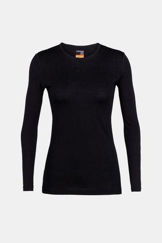 Icebreaker Womens 200 Oasis Long Sleeve Crewe Top Black