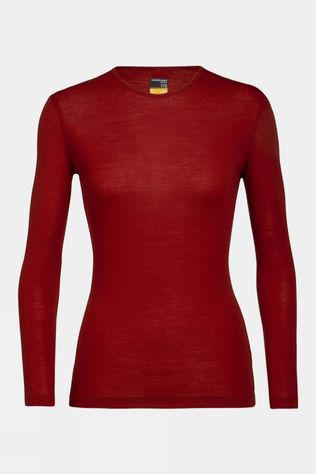 Icebreaker Womens 175 Everyday Long Sleeve Crewe Top Oxblood