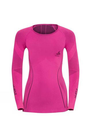 Odlo Womesn Evolution Warm Muscle Force Compression Baselayer Pink Glo - Peacoat