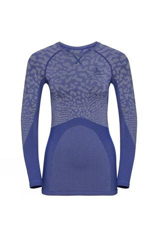 Odlo Womens Blackcomb Long-Sleeve Base Layer Top Clematis Blue - Tradewinds - Clematis Blue
