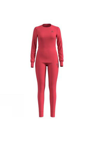Odlo Womens Active Warm Base Layer Set Hibiscus