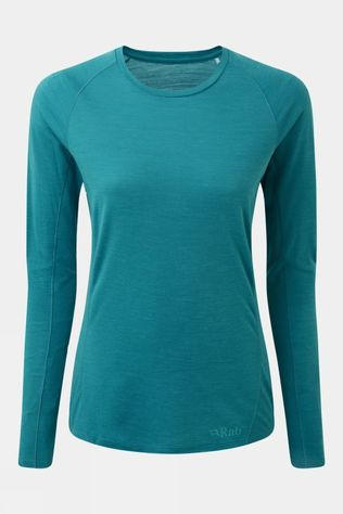 Rab Womens Forge Long Sleeve Top Aquamarine