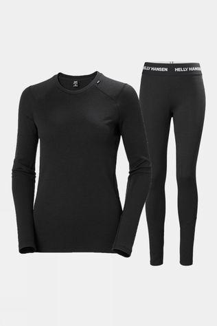 Helly Hansen Womens Lifa Merino Midweight Set Black